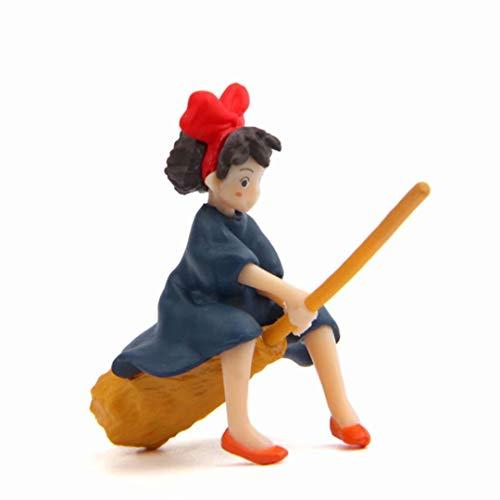 Madlst Hexe der Besen fliegendes Action-Figuren DIY Landschaftsbau-Puppe
