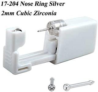 Disposable Safe No Pain Sterile Ear Stud Earring studex Piercing Gun Piercer Tool Kit Machine Kit Earring Units Piercing Jewelry,1