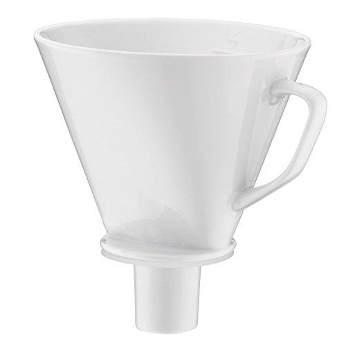 alfi Kaffeefilter Porzellan Größe 4, Handfilter Kaffee für Thermoskanne weiß, 0096.010.000 wiederverwendbare Kaffeefilter aroma Plus, Kaffee direkt in die Isolierkanne brühen