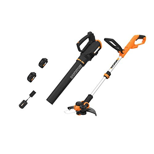 WORX PowerShare 20V Cordless Trimmer/Edger and Leaf Blower Combo Set