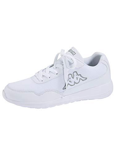 Kappa FOLLOW OC XL   Freizeit-Sneakers für Frauen und Männer   super-leicht, modisch und zeitlos   angenehmes Tragegefühl   atmungsaktiv, Größe 47 - 501016 white/grey, Größe 49