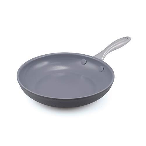 """GreenPan Lima 8"""" Ceramic Non-Stick Open Frypan, Gray - CW0002858"""