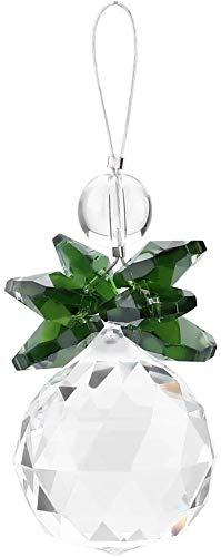 FTVOGUE Klar K9 Kristall Suncatcher hängende Anhänger Prismen Anhänger Hochzeit Ornament X'Mas Decor(Grün)