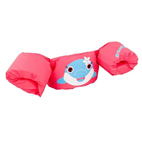 SEVYLOR The Original Puddle Jumper Brazo Floats, Todo el año, Infantil, Color Rosa - Pink-Delfin, tamaño Small
