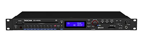 Tascam CD-400U Rackmount CD/Media Player with Bluetooth Wireless and AM/FM Receiver