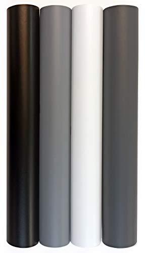 Vinilo Adhesivo Mate Ancho 40/60 Cm Para Muebles Cocina Paredes Ventanas Manualidades Papel Adhesivo Decorativo (60x300 cm, GRIS)