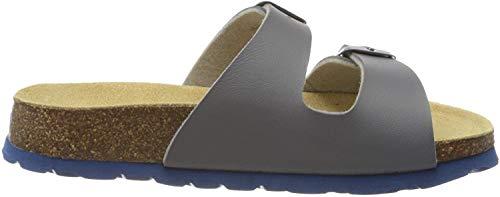 Superfit Jungen Fussbettpantoffel Pantoffeln, Grau (Grau 20), 38 EU