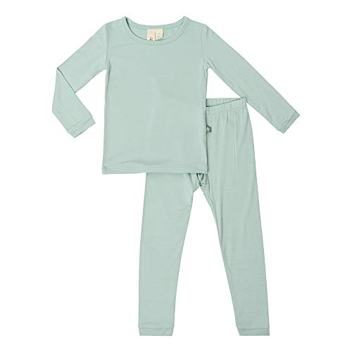 KYTE BABY Toddler Pajama Set - Pjs for Toddlers Made of Soft Bamboo Rayon Material (4T, Sage)