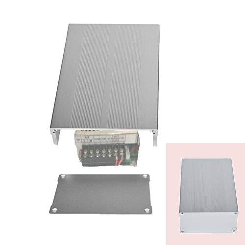 Custodia in alluminio per contenitore elettronico, custodia elettronica in argento sabbia per progetti fai-da-te, strumento per circuito stampato, per circuito stampato 55x106x160mm