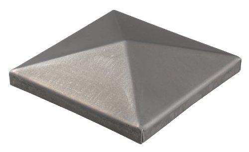 GAH-Alberts 418052 Pfostenkappe für Vierkantmetallpfosten, zum Anschweißen, Stahl roh, 150 x 150 mm / 2 Stück, STK