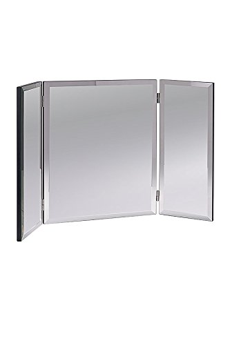 My-Furniture - Stiletto Specchiera/Specchio a Tre Ante in Vetro temprato