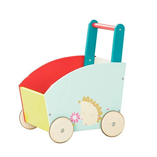 Buy Bargain Baby First Steps Activity Walker Wood Baby Walker Cartoon Kid Shopping Cart Walker Push ...