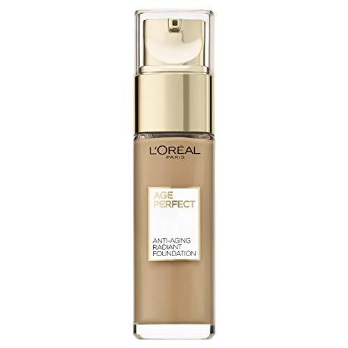 L'Oréal Paris Age Perfect Feuchtigkeitsspendendes Make-up in Nr. 380 miel dore, für reife Haut und einen strahlenden Teint, mit LSF 17, 30 ml