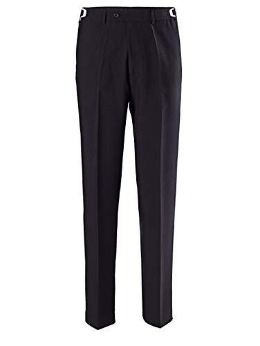 Men Plus by HAPPYsize Herren-Hose Baukasten-System – Anzug-Hose vielseitig kombinierbar, größenverstellbare Stoff-Hose in Schwarz Gr. 52