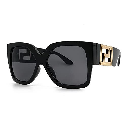 ShZyywrl Gafas De Sol De Moda Unisex Gafas De Sol Cuadradas De Gran Tamaño Vintage para Mujer Y Hombre, Gafas De Sol con Ojo De Gato, Gafas De Sol Grandes para
