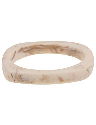 Leslii Damen-Armband XXL-Armreif Marmor-Muster Statement-Armband Beiger Armreif Modeschmuck-Armband in Beige Braun