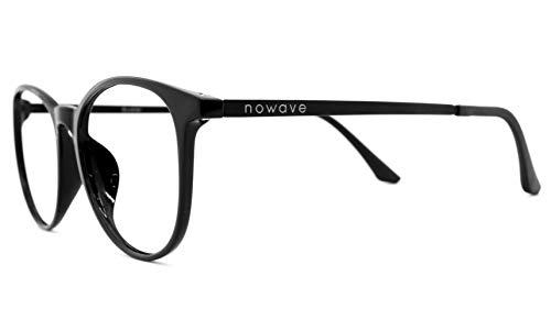 NOWAVE Occhiali neutri per PC, Tablet, TV e Gaming   Eliminano stanchezza e irritazione visiva   NOVITA' ESCLUSIVA in titanio INDISTRUTTIBILI. Occhiali riposanti ANTI LUCE BLU 40% e UV 100%   Buckler
