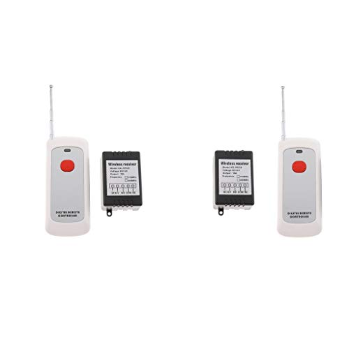 #N/a Pacco Da 2 Interruttori per Telecomando Wireless per Luci, Lampade, Portata 1000M 12V 10A