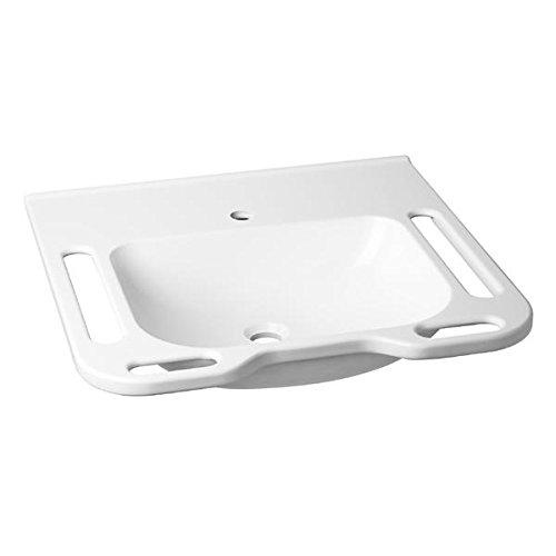AVENARIUS barrierefreier Waschtisch; 600 mm, m/Überlauf, Serie free living!