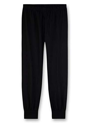 Sanetta Jungen Schlafanzughose Pants, Schwarz (super Black 10015) 152