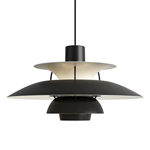 PH 5 Hängeleuchte, Louis Poulsen, Pendelleuchte Entworfen von Poul Henningsen (Monochromes Schwarz)