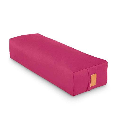 #DoYourYoga Yogabolster »Paravati« mit Bio-Buchweizenschalen (KBA), waschbarer Bezug aus 100% Baumwolle, 67cm x 13cm,...