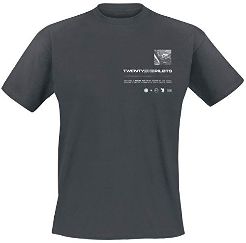 Twenty One Pilots Dead Car Uomo T-Shirt Cenere/Nero M 100% Cotone Regular