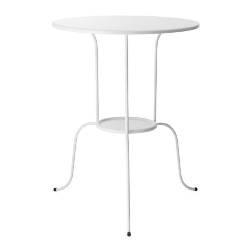 Ikea LINDVED - Mesa auxiliar blanca - 50x68 cm