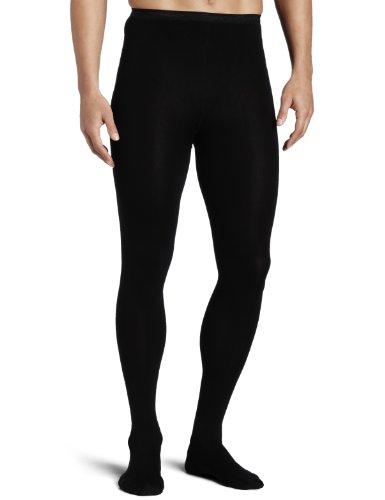 Capezio Men's Knit Footed Tights , Black, Medium