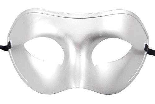 Mscara Veneciana Carnaval Hombre Enmascarado Halloween Plata Adultos Nios