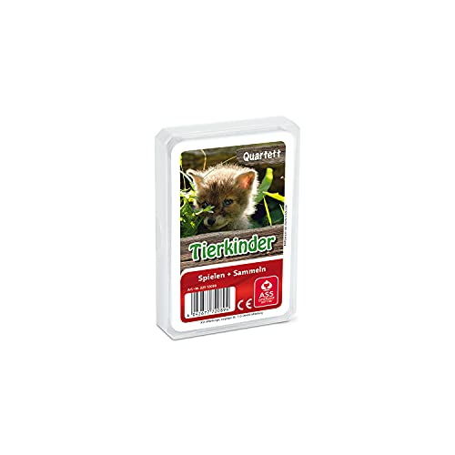 ASS Altenburger 22572089 - Quartett Tierkinder, Kartenspiel