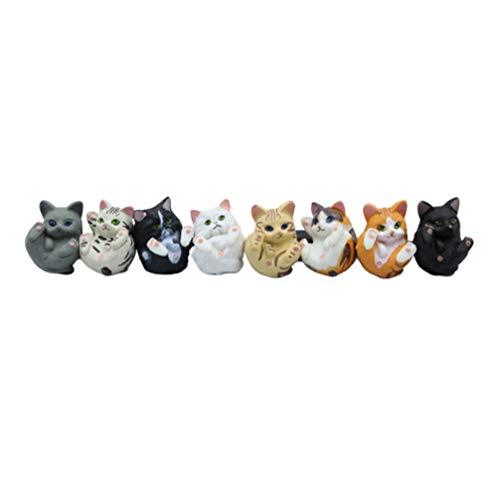 EXCEART 8 Piezas Llavero Colgante Encanto Gato Encantos Animales Colgantes Cuentas para Manualidades Diy Pulsera Collar Llavero Joyería Hacer Hallazgos (Estilo Mixto)