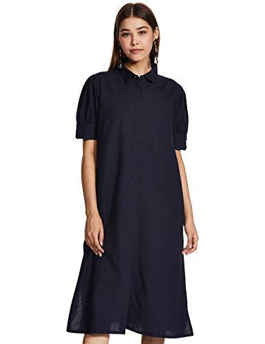 Amazon Brand – Eden & Ivy Women's Cotton Shirt Midi Dress