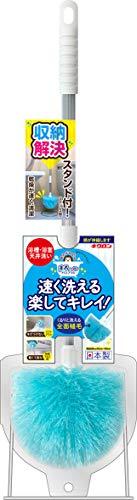 キクロン 日本製 バスブラシ お風呂 掃除 おてがるバス まるいーね 伸縮ブラシ スタンド付き 全長50〜68cm