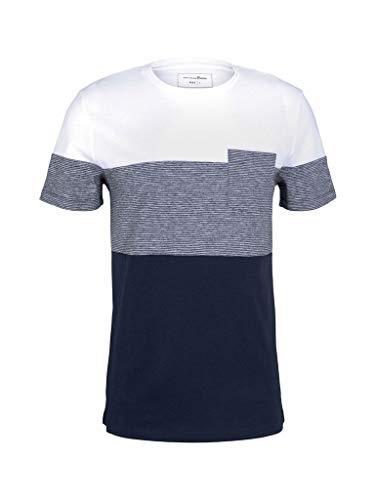 TOM TAILOR Denim 1024871 Basic Camiseta, Sky Captain Blue 10668-Juego de Mesa [Importado de Alemania], XL para Hombre