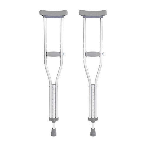 ViewSys Crutch, Caña de Aluminio for Adultos, el 102CM Largo Ajustable Botón Mango cómodo de la Mano del Brazo Inferior con muletas a pie del cojín del pie Adultas Muletas de antebrazo,