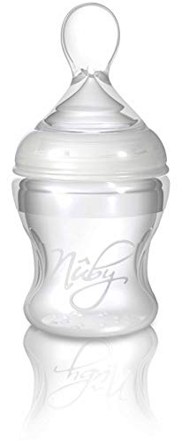 Nuby ID67275 Biberon in silicone con cucchiaino 150ml
