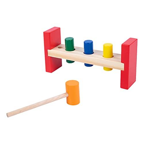 Toyvian 1 Juego de Juguetes de Madera de Banco con Mazo de Madera de Martillo de Bloques de Perforación de Instrumentos de Juguete Educativo para Niños para Regalos de Fiesta de