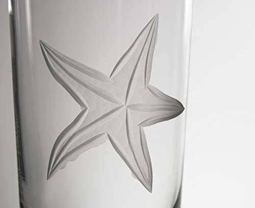 Rolf Glass 400013S/4 Starfish Cooler Drinking Glass, Clear