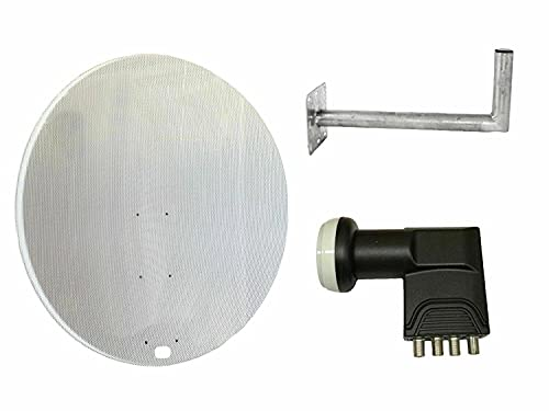 Satellitenschüssel 120 cm Schüssel mit Wandhalterung und Quad LNB