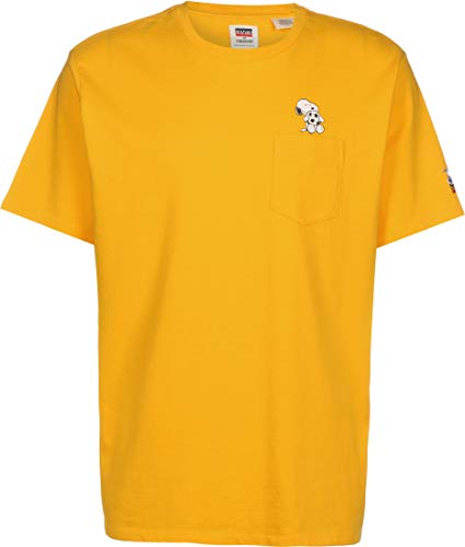 Levis x Peanuts Relaxed Fit Pocket Tee Soccer Snoopy Gold Fusion L