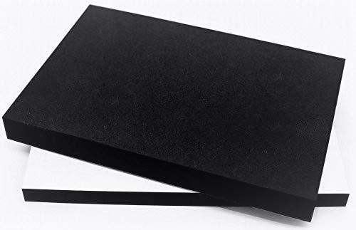 EPDM Zellkautschuk Dichtungsmatte einseitig, selbstklebend Moosgummi - Größe A4 200x300mm - Stärke in 1 mm (200x300x1mm) Premium-Qualität mit Geld-zurück-Garantie