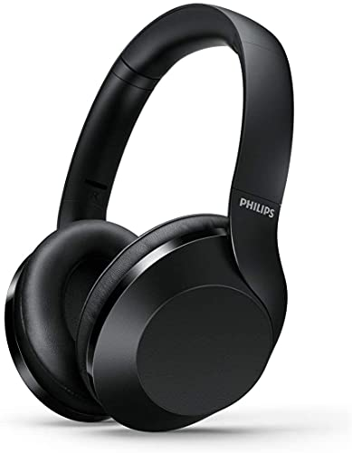Philips Audio Wireless Bluetooth Over-Ear Headphones Noise Isolation Stereo with Hi-Res Audio, up to 30 Hours Playtime with Rapid Charge (Noise Isolation), Black (PH05)