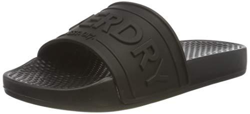 Superdry Edit Chunky Slide, Zapatos de Playa y Piscina Mujer, Negro (Black 02a), 36/37 EU