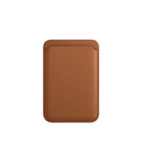 Cartera magnética para Apple iPhone 12/12 Mini / 12 Pro / 12 Pro Bolsillo Trasero para teléfono móvil para MagSafe PU Tarjetero de Cuero para Hombres y Mujeres
