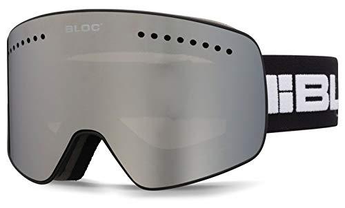 Bloc Fifty Five Lunettes de Ski magnétiques 2 lentilles interchangeables Noir Mat G552
