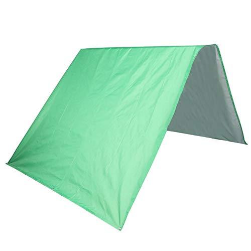 Omabeta Al Aire Libre Viene con una Bolsa de Almacenamiento a Prueba de Lluvia 190t Poliéster Tafetán Tejido Revestido en Plata Parasol Toldo en el Techo para Senderismo Camping(Green)