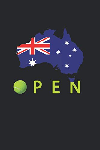 Australian Open Tennis Notebook: Blank Lined Journals - 120 Pages - 6 x 9 Inch - Notebook - Diary - Composition Book