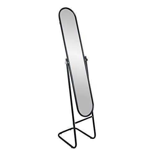 Harbour Housewares Ganzkörper-Standspiegel - abgerundet - Schwarz