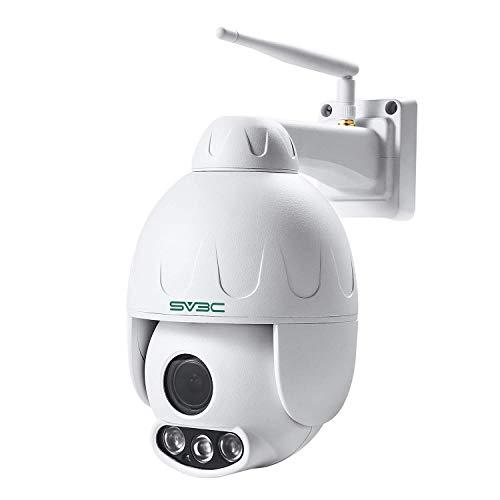 SV3C PTZ Telecamera di Sorveglianza IP Camera ONVIF Impermeabile - 1080P IP Cam con 50M Visione Notturna, PIR Rilevazione Movimento, Supporto TF Card da 128 GB